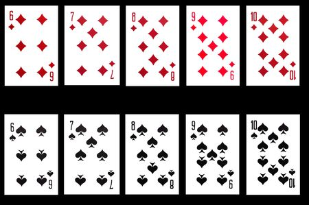 object on balck - playing card close up photo