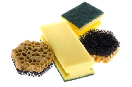 foam safe: object on white - kitchen tool sponge
