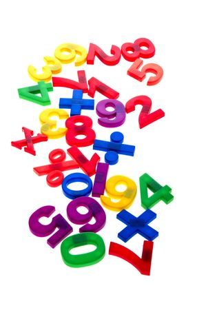 object on white - toy plastic numbers Stock Photo - 6576759