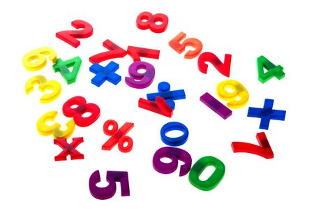 object on white - toy plastic numbers Stock Photo - 6576758