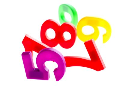 object on white - toy plastic mathematical character Stock Photo - 6613310