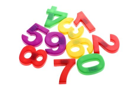 object on white - toy plastic mathematical character Stock Photo - 6613313