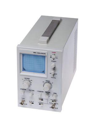oscilloscope: oggetto su bianco - strumento di misura dello strumento oscilloscopio Archivio Fotografico