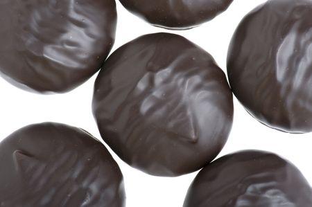zephyr: object on white - food Chocolate zephyr Stock Photo