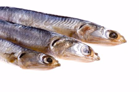 object on white - food Smoked sprat Stock Photo - 6696844