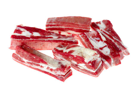 object on white - food raw meat Stock Photo