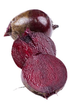 object on white - food beet close up