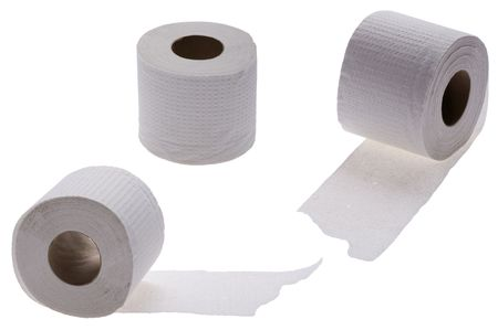 object on white - toilet paper close up Stock Photo - 7755859