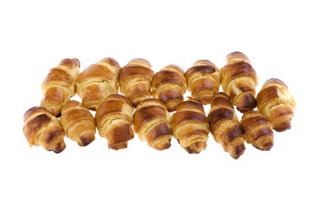 object on white - food croissant close up photo