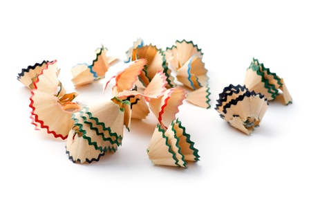 object on white - pencil shavings close up Stock Photo - 8897774