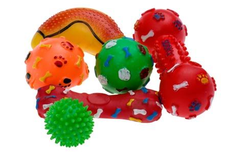 jouet: objet sur fond blanc - jouet en plastique pour chien