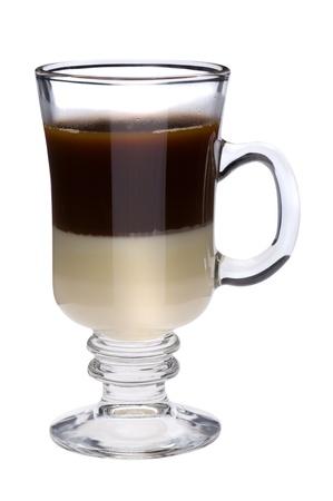 object on white - Irish coffee close up Stock Photo - 8992641