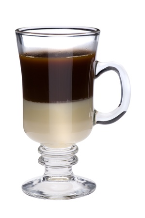 object on white - Irish coffee close up Stock Photo - 8992641