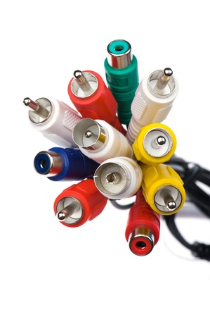rca: oggetto su bianco - rca connettori close up
