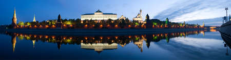 moscow churches: Russia The Moscow Kremlin in the morning