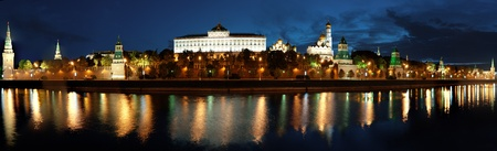 panorama The Moscow Kremlin in the morning photo
