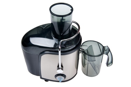 extractor: object on white - juice extractor close up Stock Photo