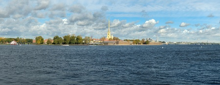 Panorama The Peter and Paul Fortress St.Petersburg, Russia Stock Photo - 10762896