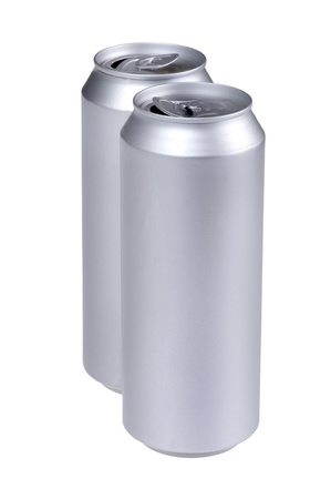 object on white - beverage can close up photo