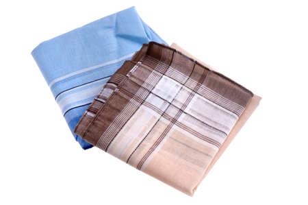object on white - handkerchief close up Stock Photo