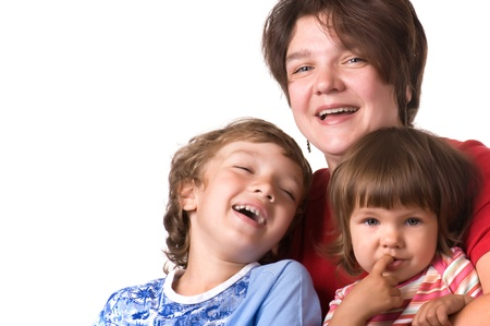 Casual portrait smiling of a healthy young family Stock Photo - 11279116