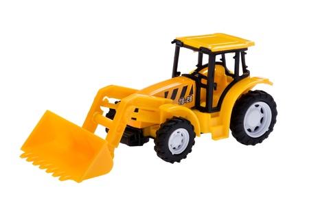 object on white - isolated excavator toy photo