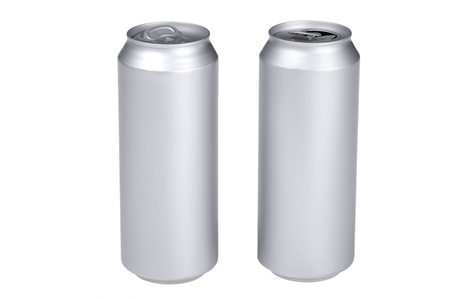 object on white - beverage can photo