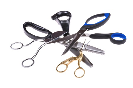 object on white -  tool sewing scissors Stock Photo - 12848149