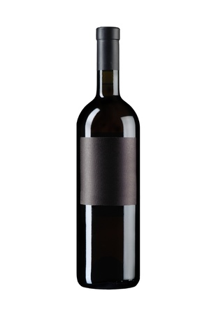 object on white - isolated wine bottle photo