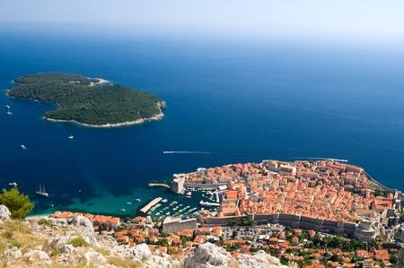 The historic city of Dubrovnik in Croatia photo