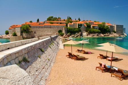 sveti: Island of Sveti Stefan -resort-island - Montenegro Editorial