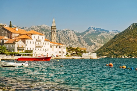 Montenegro day in the ancient town of Perast photo