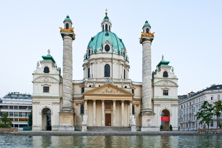 st charles: Cathedral of St  Charles in Vienna, Austria