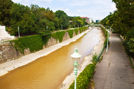 the Wien river flowing through the old town photo