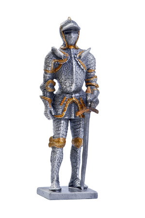 squire: isolated object on white - model knight