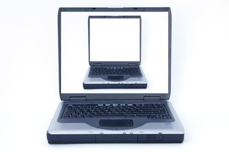 it is the photo of a portable computer that can be used for different things Stock Photo - 439898