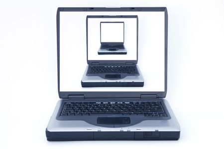 it is the photo of a portable computer that can be used for different things Stock Photo - 439897