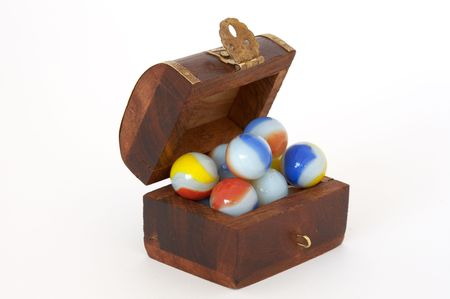 are marbles put within a coffer Stock Photo - 445469
