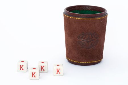 tumbler: poker of dices with tumbler