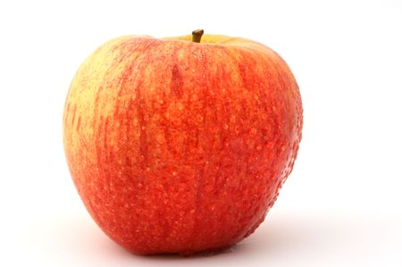 a red apple with drops of water Stock Photo - 445468