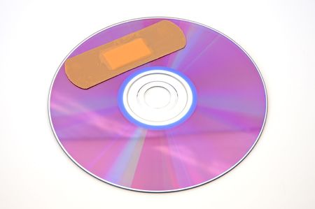 simulating: a CD with one shivers simulating a wound Stock Photo