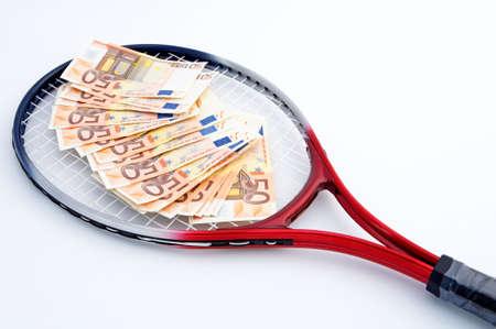money gains playing tennis photo
