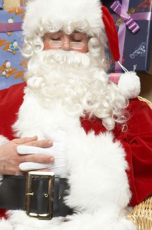 is santa claus in Christmases  photo