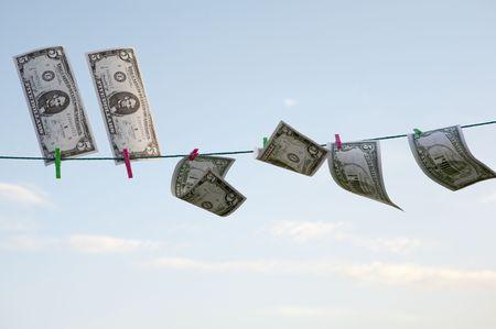 dollar bills that serve to make businesses photo
