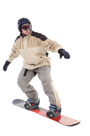 SNOWBOARDER FLY ISOLATED Stock Photo - 602993