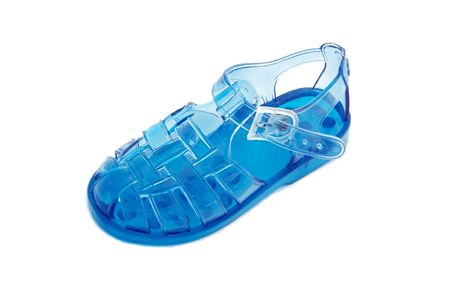 sandal of boy for the summer over a white background photo