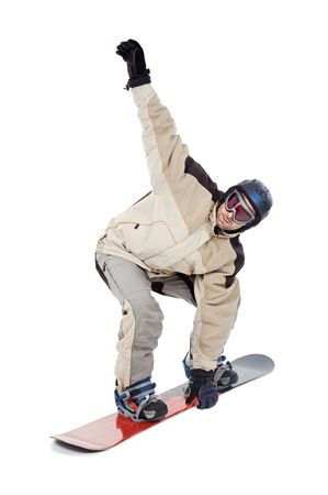 SNOWBOARDER FLY ISOLATED photo