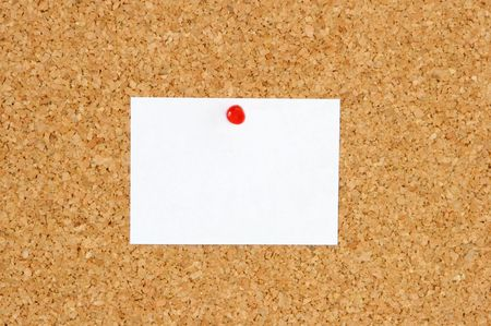 it a postit over a white black ground Stock Photo - 617083