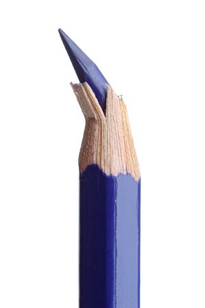 annoyance: broken pencil point over a white back ground Stock Photo