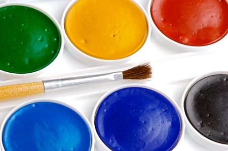 color pencils over a white back ground Stock Photo - 650892